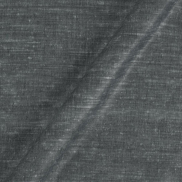 Bhagalpur Jute Type Cotton Steel Grey Colour Plain Dyed Fabric