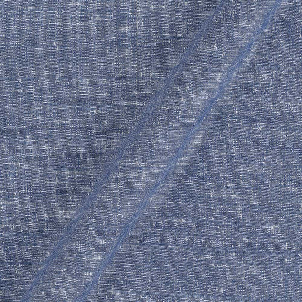 Bhagalpur Jute Type Cotton Pale Iris Colour Plain Dyed Fabric