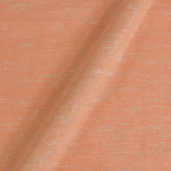 Bhagalpur Jute Type Cotton Pastel Orange Colour Plain Dyed Fabric