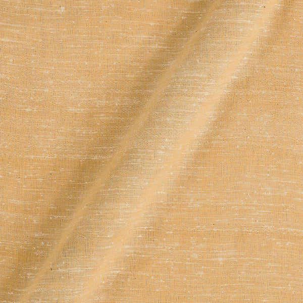 Bhagalpur Jute Type Cotton Cream Yellow Colour Plain Dyed Fabric