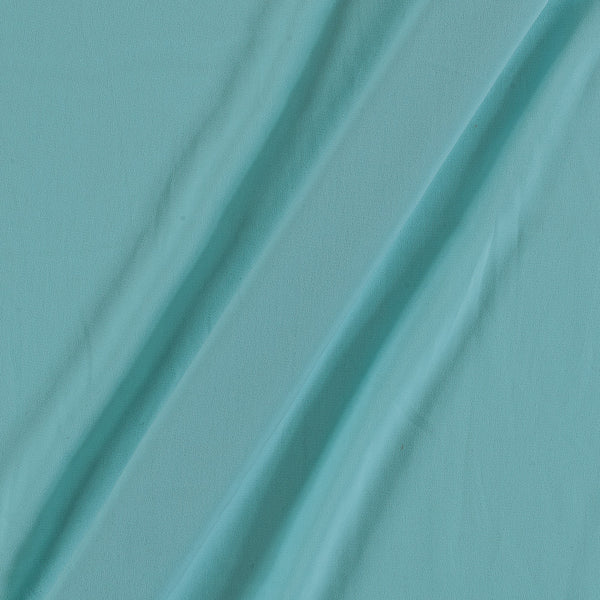 Flowy (Crepe Type) Heavy Quality Dyed Polyester Pastel Aqua Colour Fabric