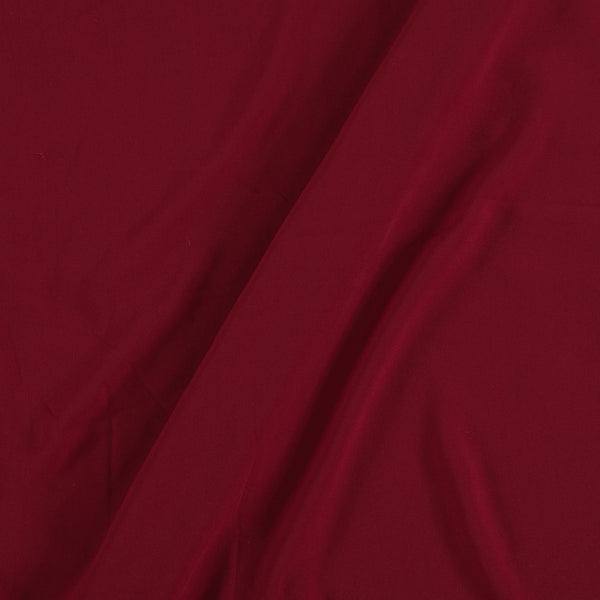 Flowy (Crepe Type) Heavy Quality Dyed Polyester Maroon Colour Fabric