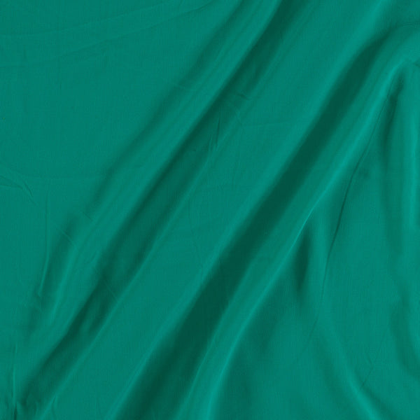 Flowy (Crepe Type) Heavy Quality Dyed Polyester Emerald Green Colour Fabric