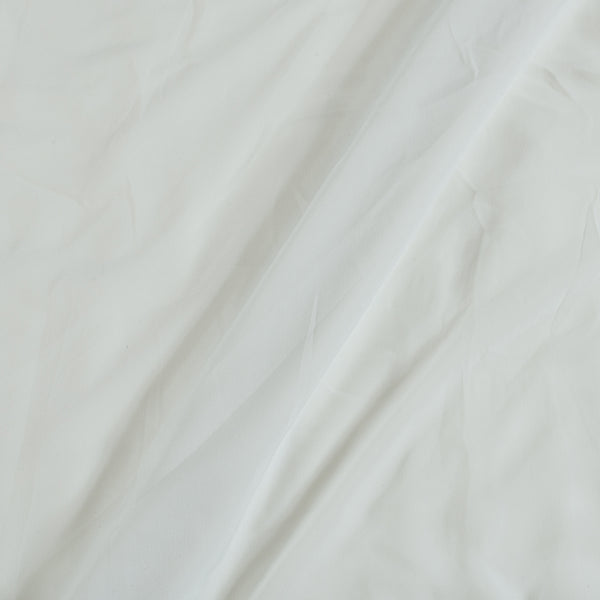 Flowy (Crepe Type) Heavy Quality Dyed Polyester White Colour Fabric