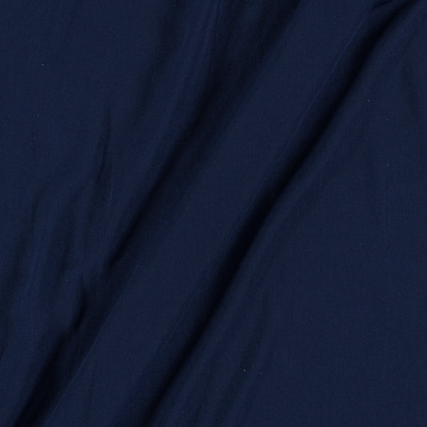 Flowy (Crepe Type) Heavy Quality Dyed Polyester Navy Blue Colour Fabric