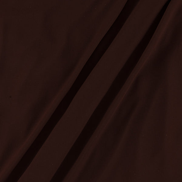 Flowy (Crepe Type) Heavy Quality Dyed Polyester Coffee Colour Fabric