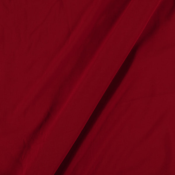 Flowy (Crepe Type) Heavy Quality Dyed Polyester Red Colour Fabric