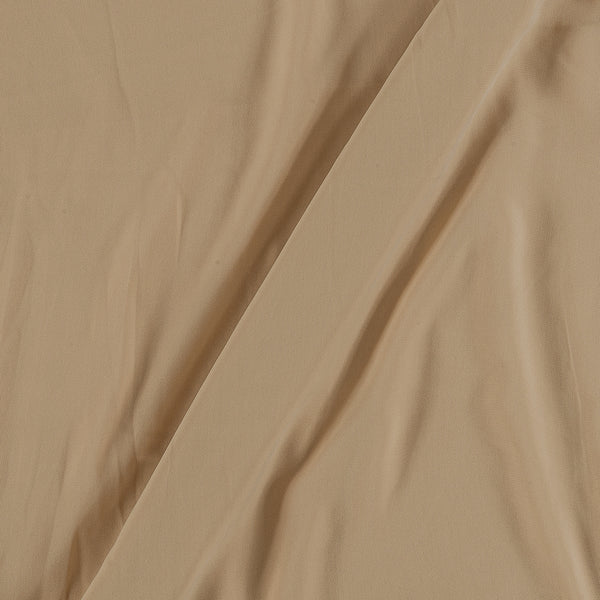 Flowy (Crepe Type) Heavy Quality Dyed Polyester Beige Colour Fabric