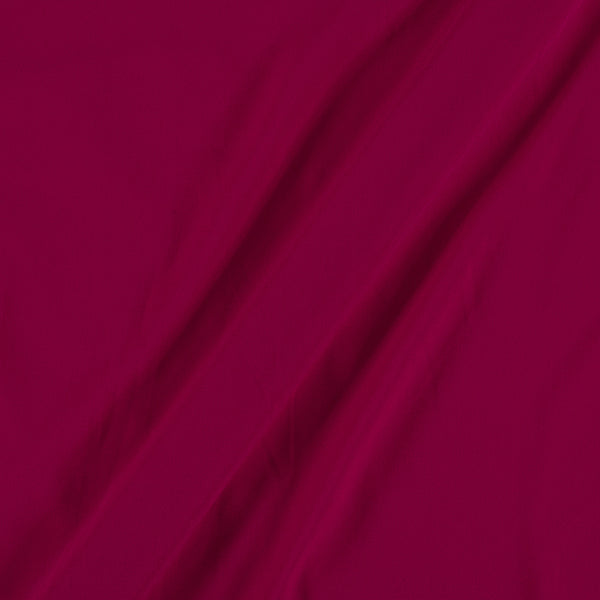 Flowy (Crepe Type) Heavy Quality Dyed Polyester Virtual Pink Colour 45 Inches Width Fabric