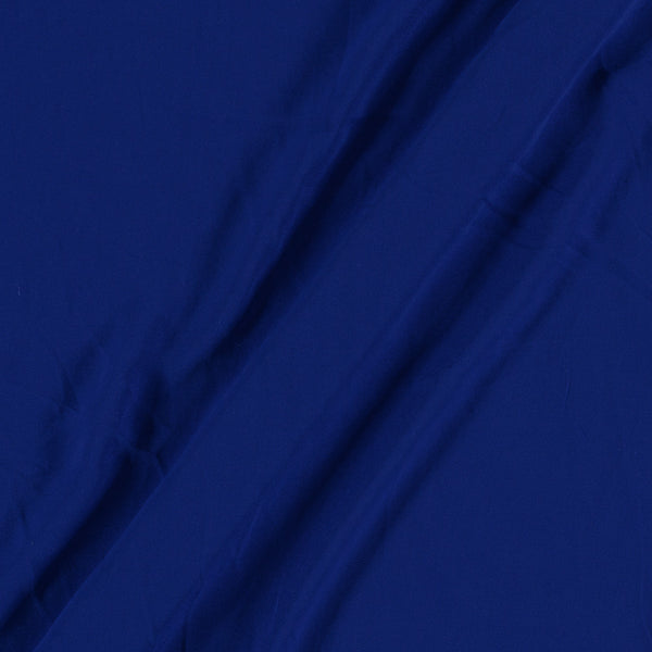 Flowy Fiona Polyester Royal Blue Colour FabricFlowy (Crepe Type) Heavy Quality Dyed Polyester Royal Blue Colour Fabric