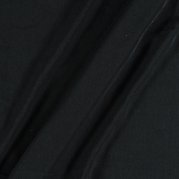 Flowy (Crepe Type) Heavy Quality Dyed Polyester Black Colour Fabric
