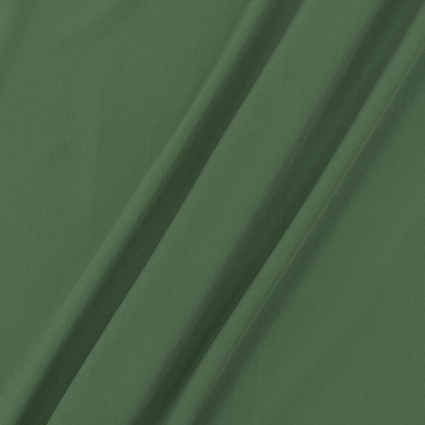 Flowy (Crepe Type) Heavy Quality Dyed Polyester Green Colour Fabric