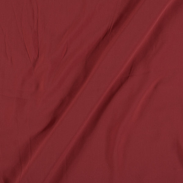 Flowy (Crepe Type) Heavy Quality Dyed Polyester Cranberry Colour Fabric