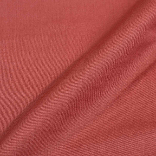 Coral Colour Plain Tencel x Tencel Cotton Fabric