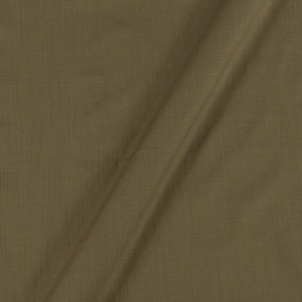 Rayon Lycra Dark Olive Colour 47 inches Width Fabric