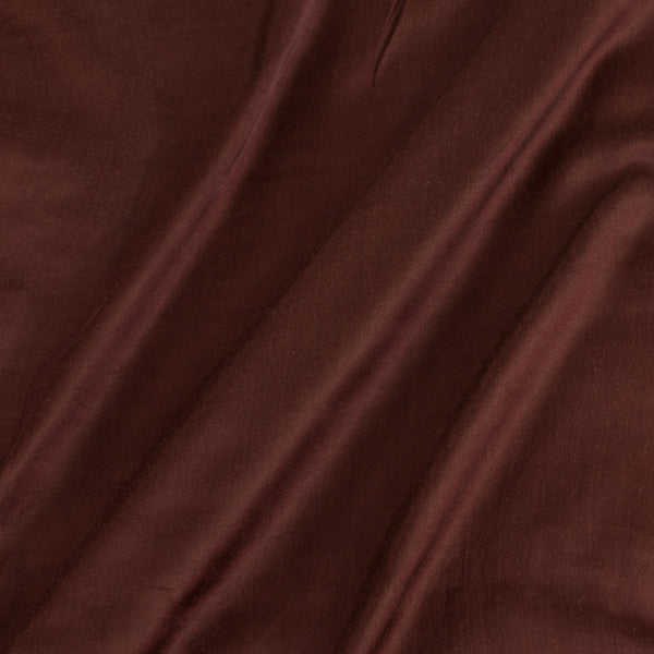 Modal Satin Brown Colour 43 Inches Width Plain Dyed Fabric