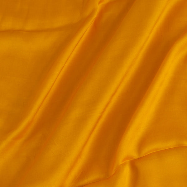 Modal Satin Yellow Colour 43 Inches Width Plain Dyed Fabric