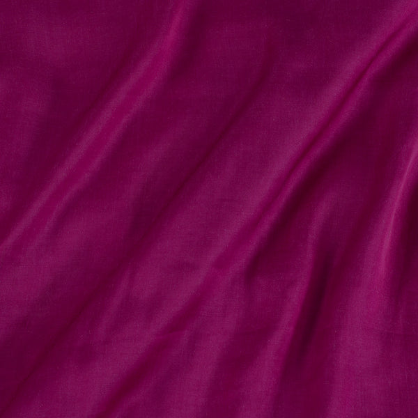 Modal Satin Rani Pink Colour 43 Inches Width Plain Dyed Fabric