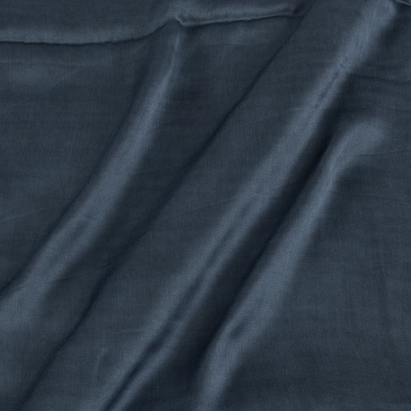 Modal Satin Steel Grey Colour 43 Inches Width Plain Dyed Fabric