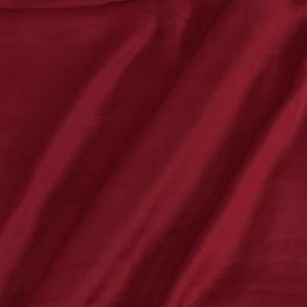 Modal Satin Maroon Colour 43 Inches Width Plain Dyed Fabric