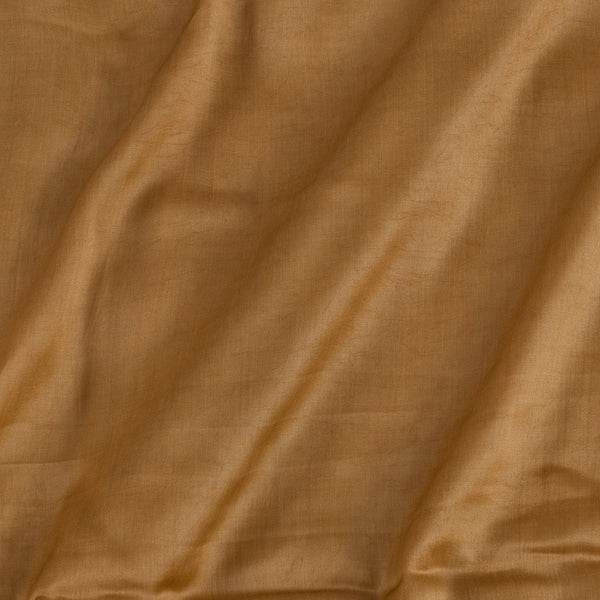 Modal Satin Bronze Gold Colour 43 Inches Width Plain Dyed Fabric