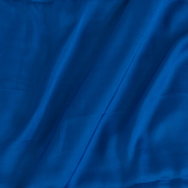 Modal Satin Royal Blue Colour 43 Inches Width Plain Dyed Fabric