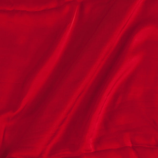 Modal Satin Red Colour 43 Inches Width Plain Dyed Fabric
