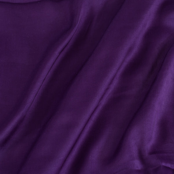Modal Satin Deep Purple Colour 43 Inches Width Plain Dyed Fabric