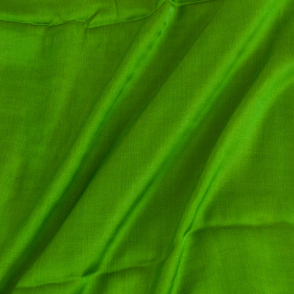 Modal Satin Parrot Green Colour 43 Inches Width Plain Dyed Fabric