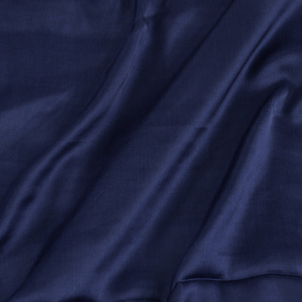Modal Satin Midnight Blue Colour 43 Inches Width Plain Dyed Fabric