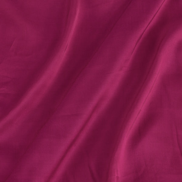 Modal Satin Crimson Pink Colour 43 Inches Width Plain Dyed Fabric