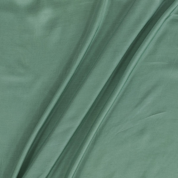 Modal Satin Shell Green Colour 43 Inches Width Plain Dyed Fabric