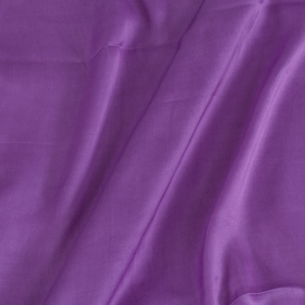Modal Satin Lavender Colour 43 Inches Width Plain Dyed Fabric