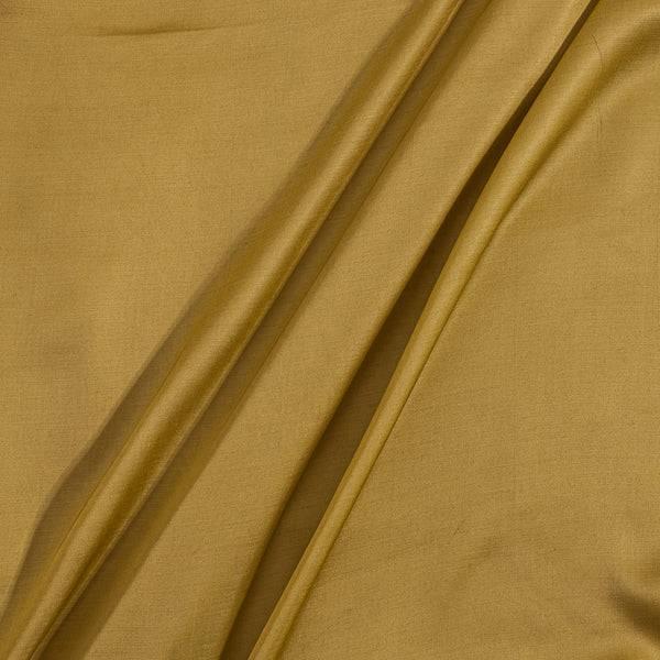 Modal Satin Mustard Yellow Colour 43 Inches Width Plain Dyed Fabric