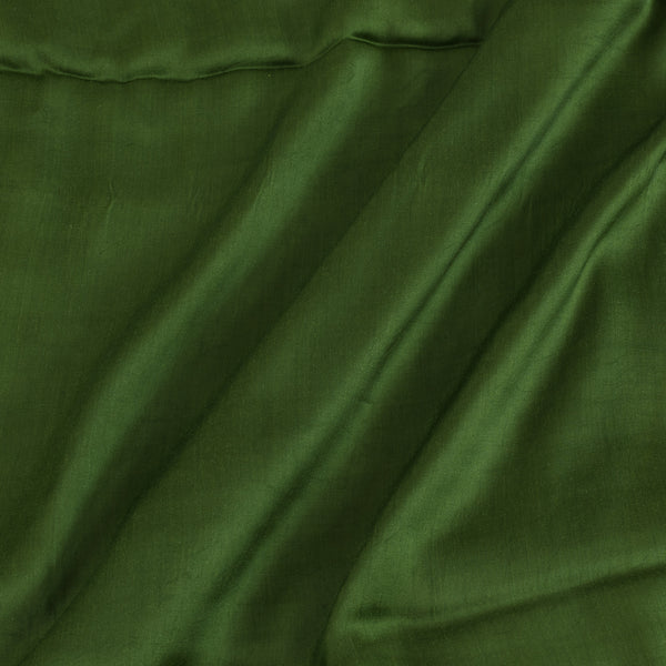 Modal Satin Moss Green Color 43 Inches Width Plain Dyed Fabric