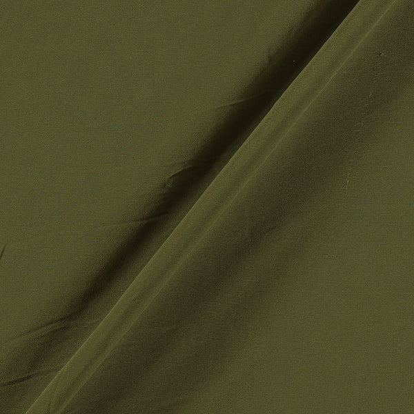 Georgette Moss Green Colour Plain Dyed Polyester  Fabric
