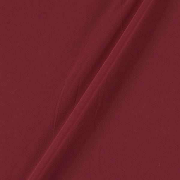 Georgette Maroon Colour Plain Dyed Polyester Fabric