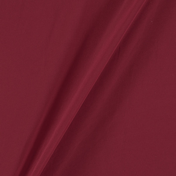 Georgette Raspberry Colour Plain Dyed Polyester Fabric