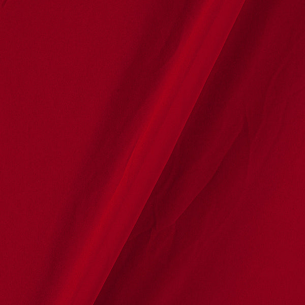 Georgette Poppy Red Colour Plain Dyed Polyester Fabric