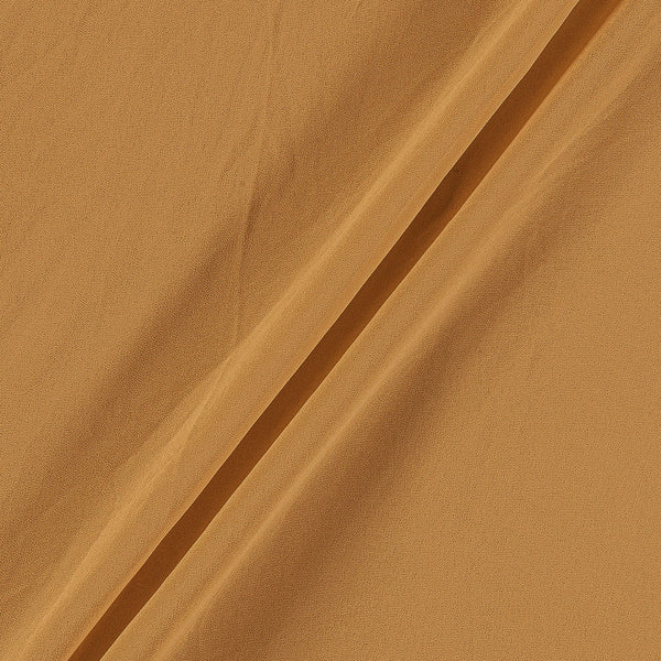 Georgette Apricoat Colour Plain Dyed Polyester Fabric