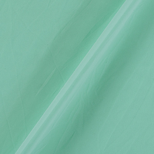 Georgette Mint Colour Plain Dyed Polyester Fabric