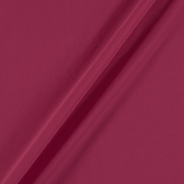 Georgette Berry Pink Colour Plain Dyed Polyester Fabric