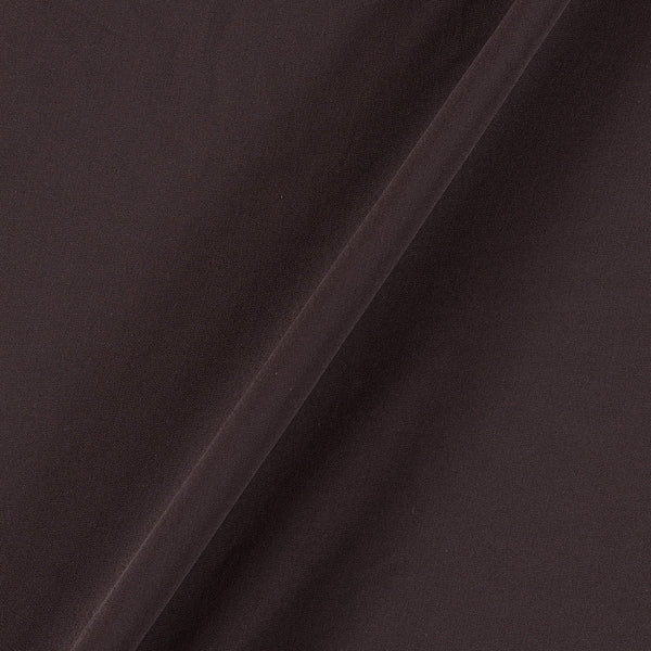 Georgette Coffee Brown Colour Plain Dyed Polyester Fabric