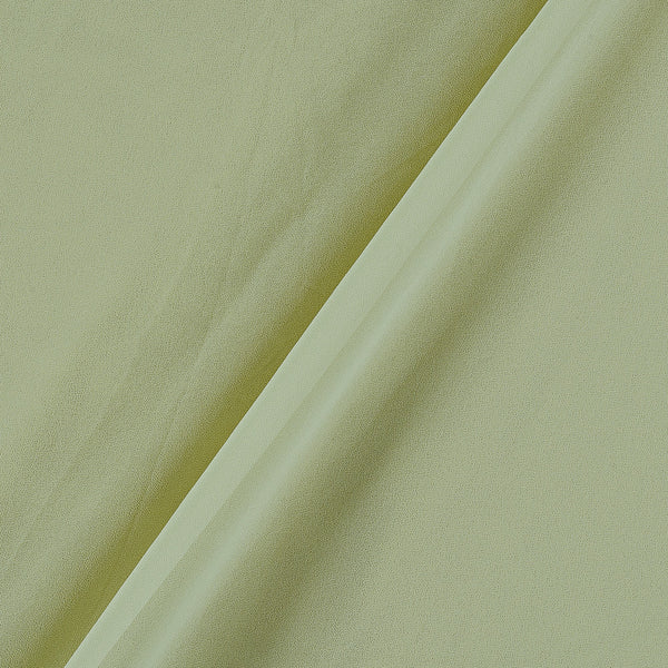 Georgette Lime Yellow Colour Plain Dyed Polyester Fabric