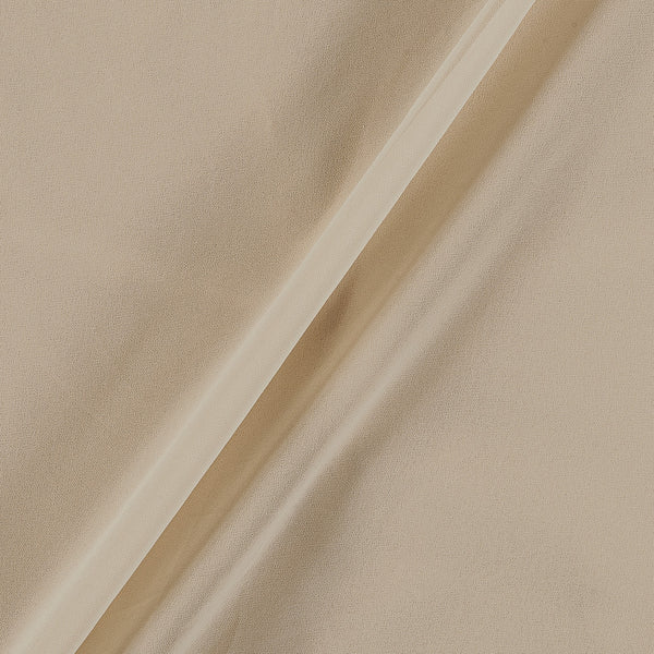 Georgette Beige Colour Plain Dyed Polyester Fabric