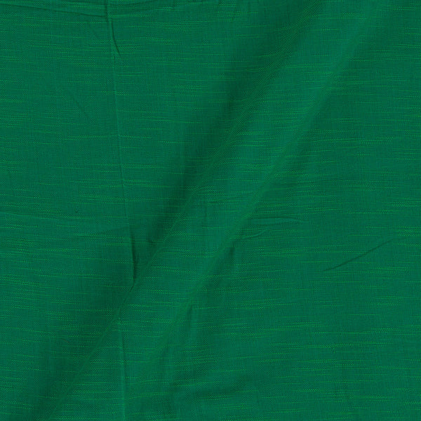Slub Twill Cotton Plain Green Colour Fabric