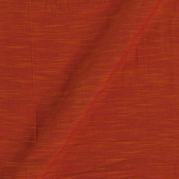 Slub Twill Cotton Plain Orange To Yellow Two Tone Fabric