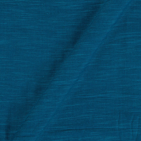 Slub Twill Cotton Plain Ocean Blue Colour Fabric