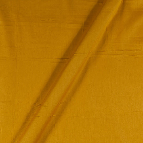 Cotton Satin Golden Yellow Colour 43 Inches Width Plain Dyed Fabric