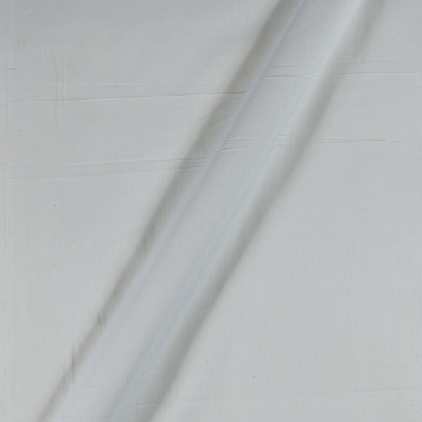 Cotton Satin White Colour 43 Inches Width Plain Dyed Fabric